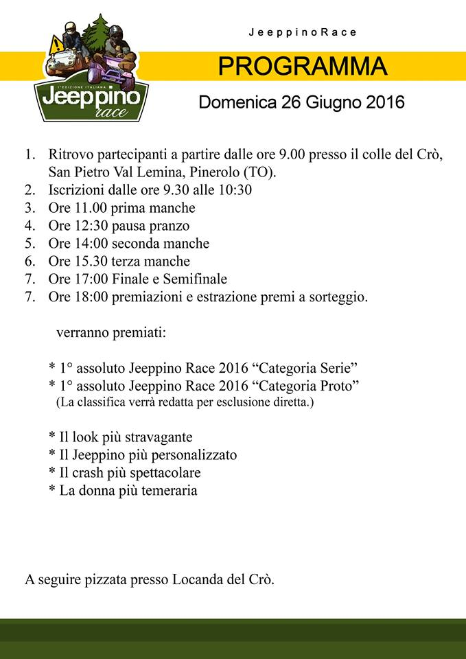 Programma Jeeppino Race